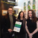 Joanna & Aleksandra from OLYART (West of Ireland) met Mary Callan from Mary Callan Knitwear (Northern Ireland)