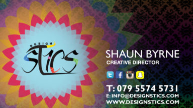 Design Stics New Business Card back