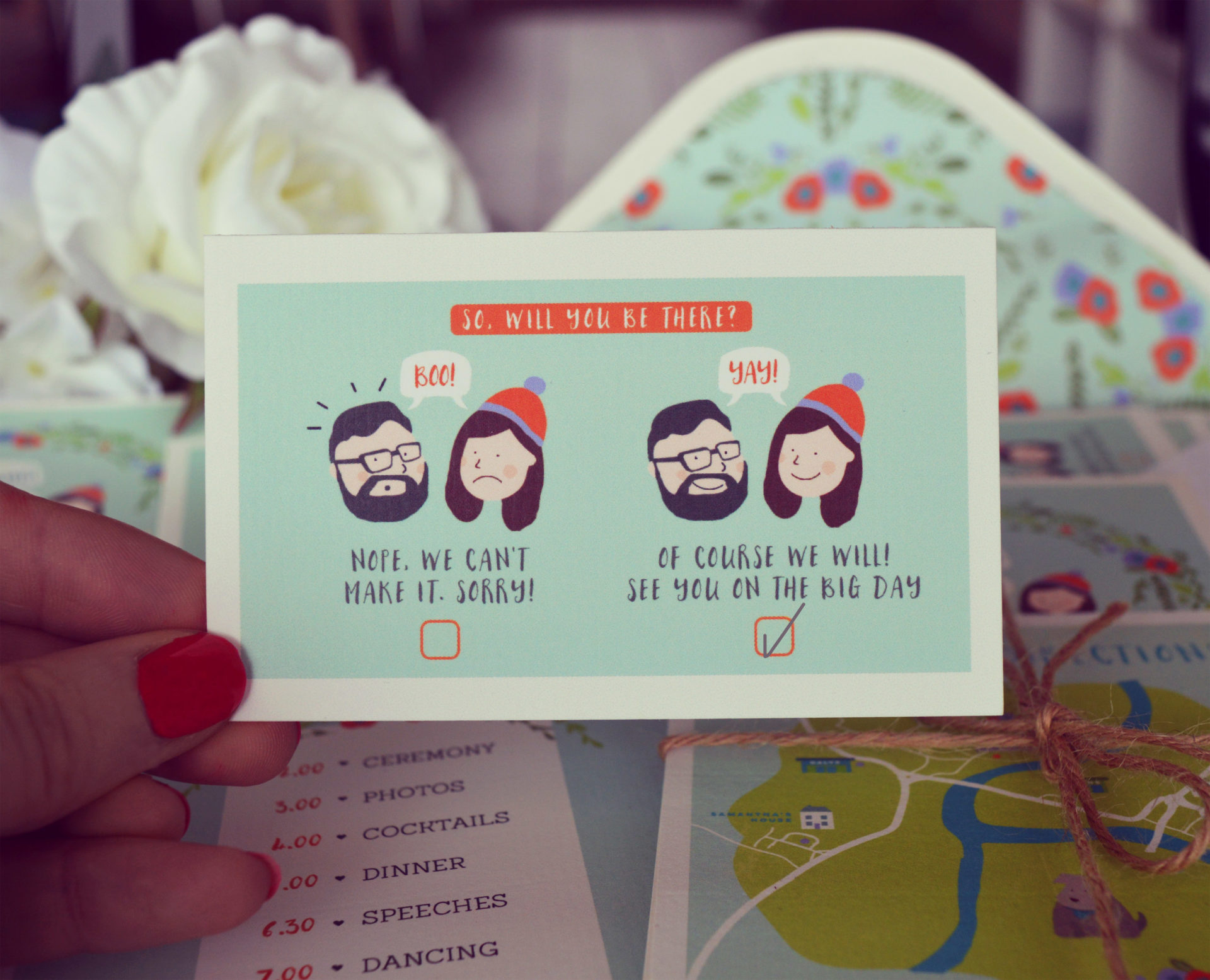 Quirky Wedding Invitation: Aye Do Quirky Wedding Invitation Illustration Ireland