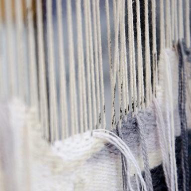 Detail of work on loom