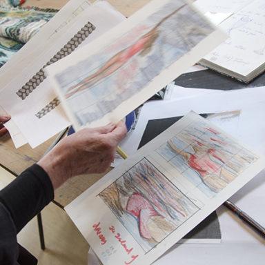 Frances Crowe designing