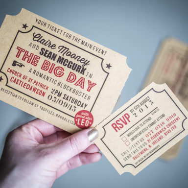 AyeDo Wedding Invite Ticket