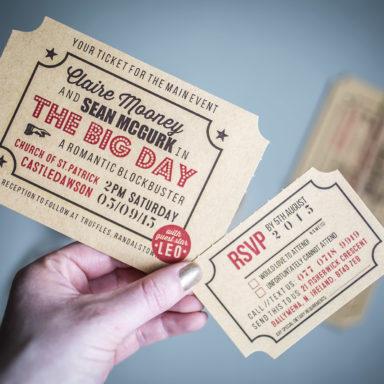 AyeDo Wedding Invite Ticket