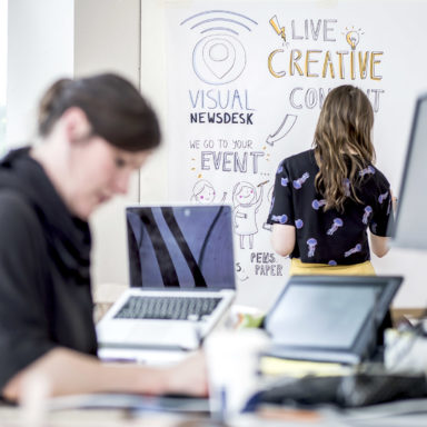 Visual News Desk Live Content Creation