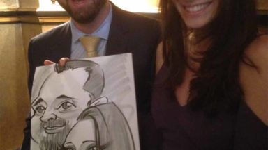 caricatures ireland wedding entertainment Hotel Meyrick drinks reception13