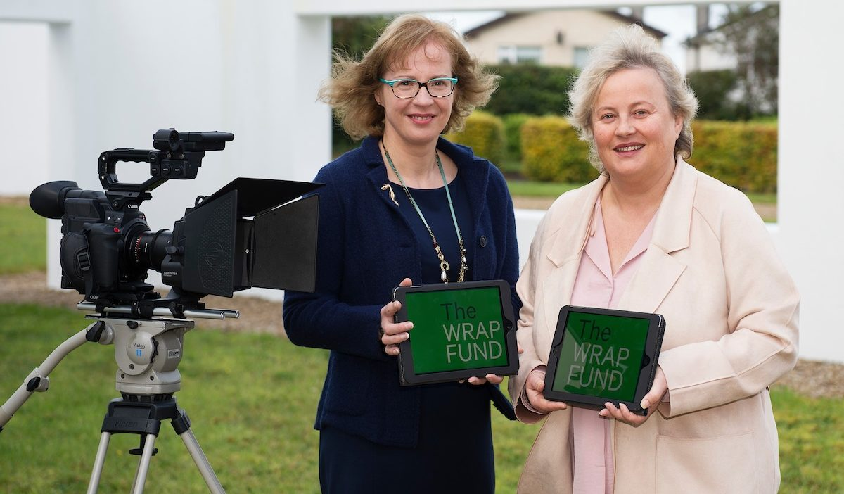 Geraldine McLoughlin, Investment Executive, WDC & Celine Curtin, Chairperson, Galway Film Centre launching the new WRAP  Fund  Photo Andrew Downes, XPOSURE.