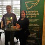 Jorma Mölläri and Jenni Kemi representing a Creative Momentum project in the event of entrepreneurs