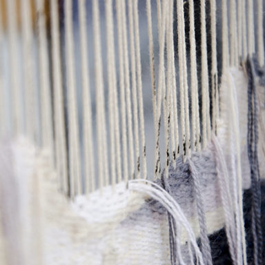 Detail of work on loom