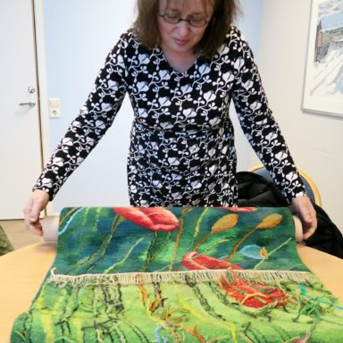 Margareta Sörlin shows her creative work