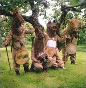 The Armagh Rhymers in costume