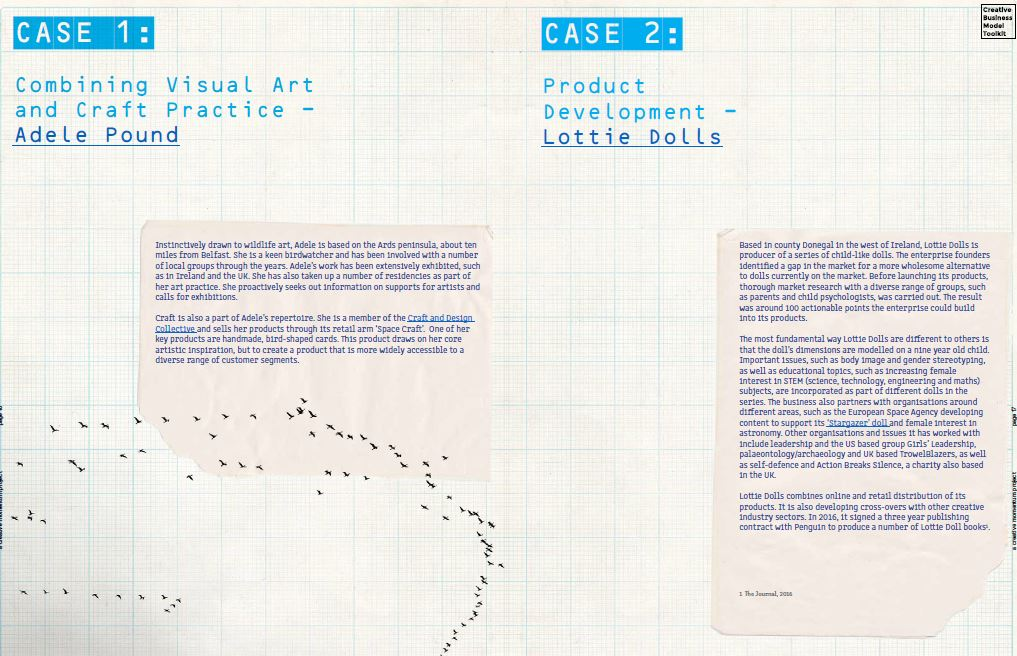 Creative Business Model Toolkit, Case 1 and 2