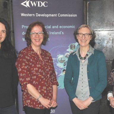 WDC staff Silvia Guglielmini, Geraline McLoughlin, Pauline White, Fiona Regan