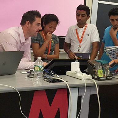 David with MIT students